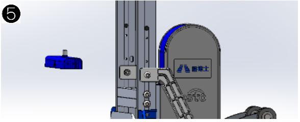 爬楼机电池盒底座的更换步骤5